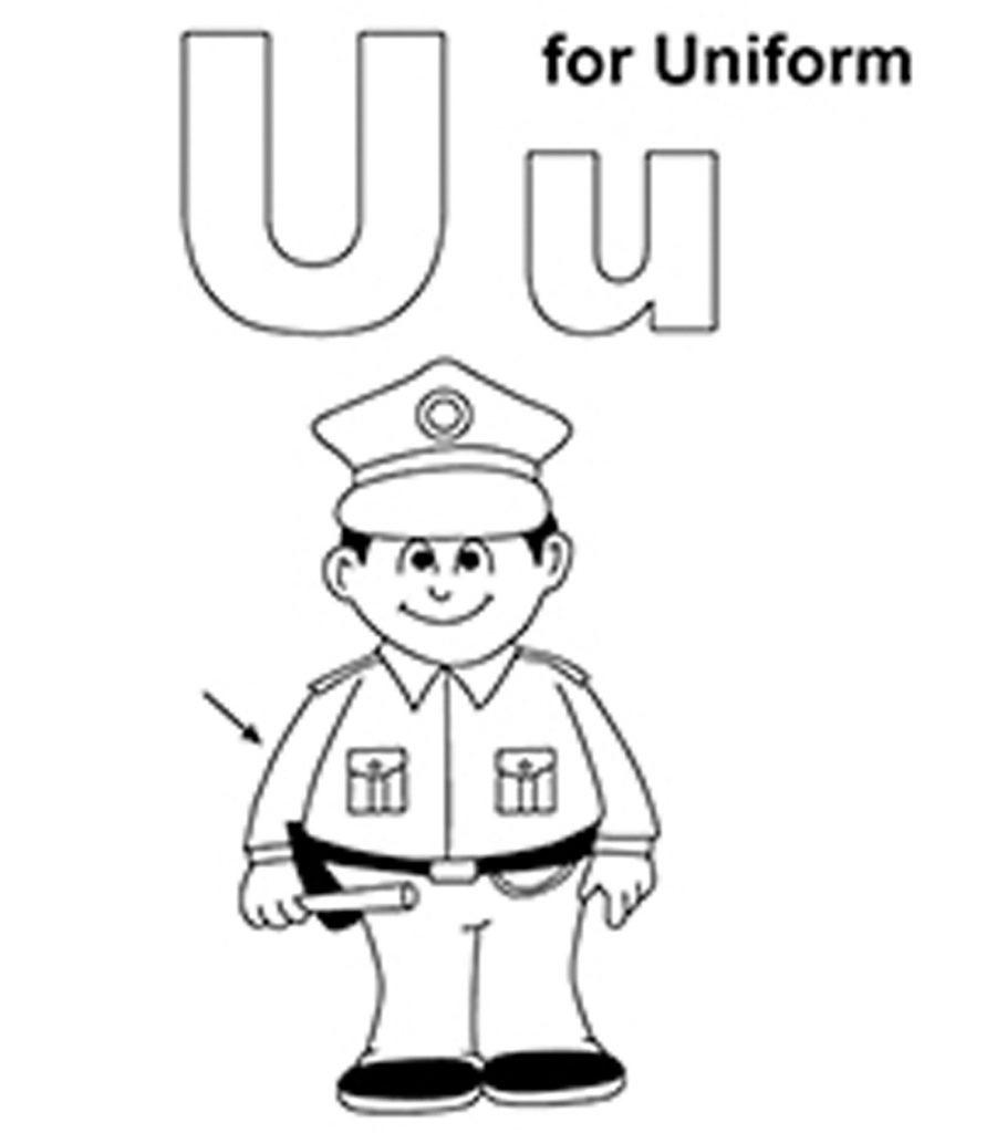 """Топ-10 букв раскраски """"U"""", которые ваш малыш будет любить изучать и красить"""