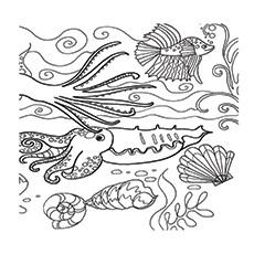 Раскраски коралловых рифов для печати
