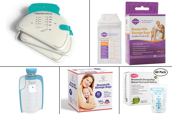 Сумки для хранения морозильника для грудного молока Nanobebe